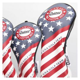 GUIOTE Vintage Series TEAM USA Red White & Blue 4x Head Cover Set