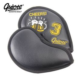 GUIOTE BEER BLACK IRON COVER SET 10 x Head Cover