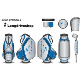 Cobra Tour Staff Bag Limited Bag British Open silber blau